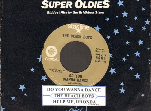 Beach Boys - Do You Wanna Dance/Help Me Rhonda (early re-issue with juke box label and company sleeve) - NM9/ - 45 rpm Records
