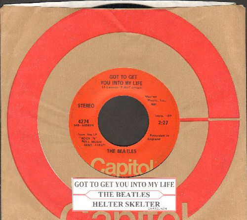 Beatles - Got To Get You Into My Life/Helter Skelter (with Capitol company sleeve and juke box label) - EX8/ - 45 rpm Records