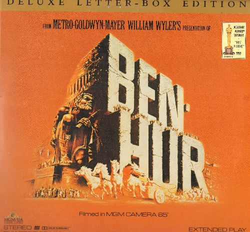 Ben Hur - Ben Hur - The Oscar Winning Epic Costume Drama starring Charlton Heston on 2 Deluxe Letter Box Edition Laser Discs, gate-fold cover. - NM9/NM9 - Laser Discs