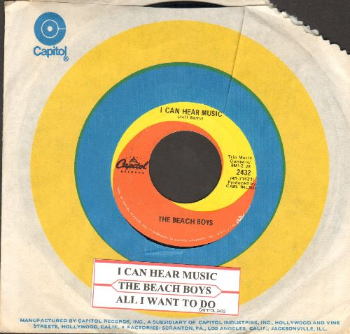 Beach Boys - I Can Hear Music/All I Want To Do (with Capitol company sleeve and juke box label) - EX8/ - 45 rpm Records