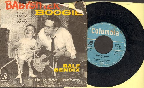 Bendix, Ralf - Babysitter Boogie (German Version of the US Novelty Hit!)/Sonne Mond Und Sterne (GERMAN Pressing with RARE picture sleeve!) - VG7/G4 - 45 rpm Records