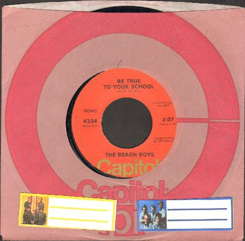 Beach Boys - Be True To Your School/Graduation Day (1970s pressing with Capitol company sleeve) - EX8/ - 45 rpm Records