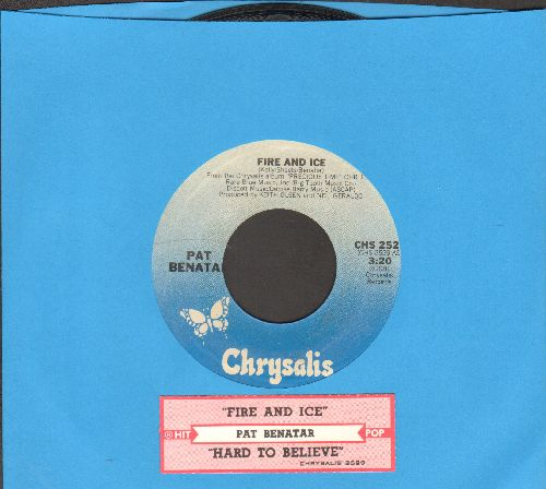 Benatar, Pat - Fire And Ice/Hard To Believe (with juke box label) - EX8/ - 45 rpm Records
