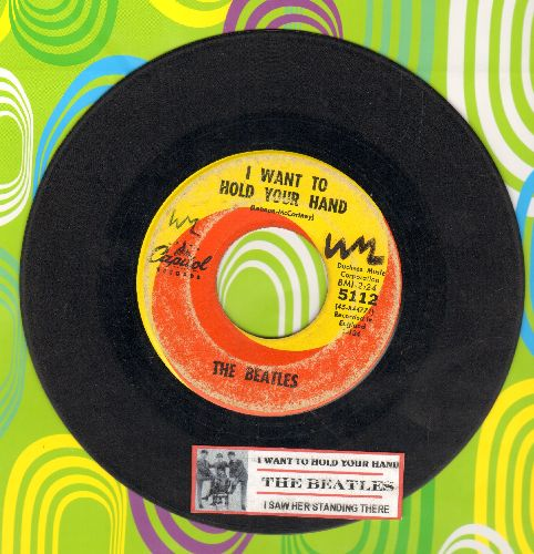 Beatles - I Want To Hold Your Hand/I Saw Her Standing There (first pressing with  juke box label, wol) - VG6/ - 45 rpm Records