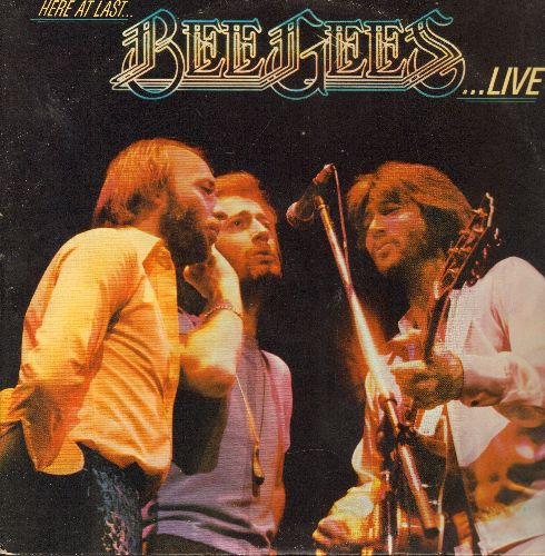 Bee Gees - Here At Last…Bee Gees…LIVE: I Started A Joke, Jive Talkin', Nights On Broadway, You Should Be Dancing, Massachusetts (2 vinyl LP record, gate-fold cover) - NM9/EX8 - LP Records