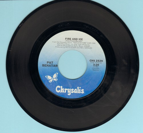 Benatar, Pat - Fire And Ice/Hard To Believe  - EX8/ - 45 rpm Records