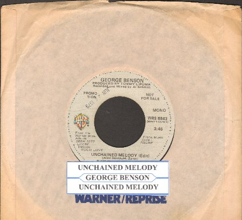 Benson, George - Unchained Melody (double-A-sided DJ advance pressing with juke box label and Warner Brothers company sleeve) - NM9/ - 45 rpm Records