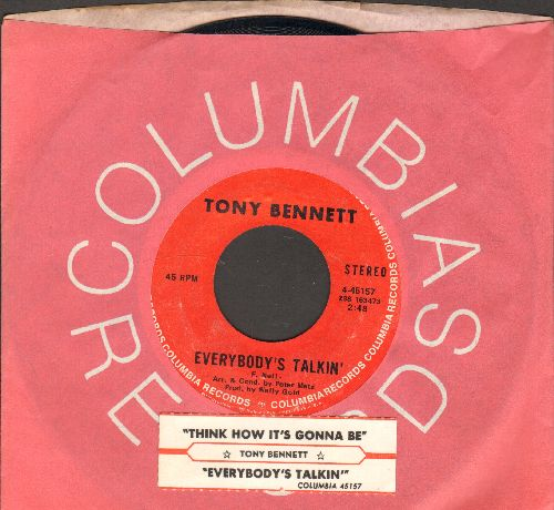 Bennett, Tony - Everybody's Talkin'/Think How It's Gonna Be (with juke box label and Columbia company sleeve) - NM9/ - 45 rpm Records