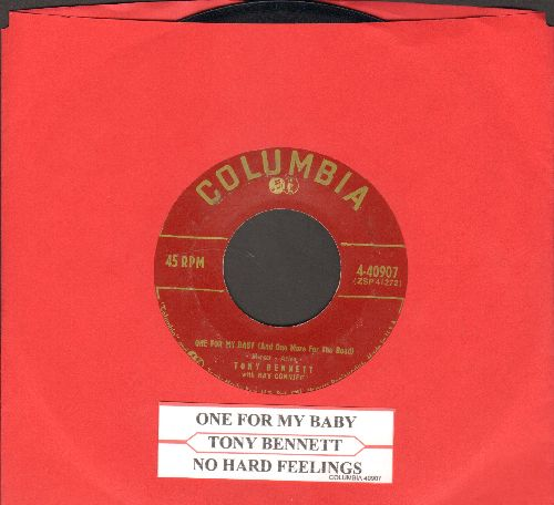 Bennett, Tony - One For My Baby (And One More For The Road)/No Hard Feelings (burgundy label first issue with juke box label) - NM9/ - 45 rpm Records