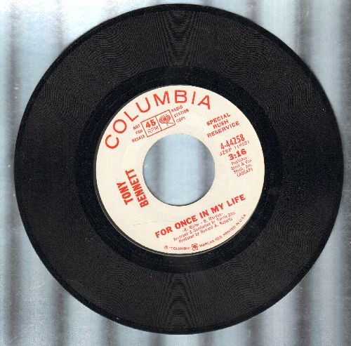 Bennett, Tony - For Once In My Life (double-A-sided DJ advance pressing) - M10/ - 45 rpm Records