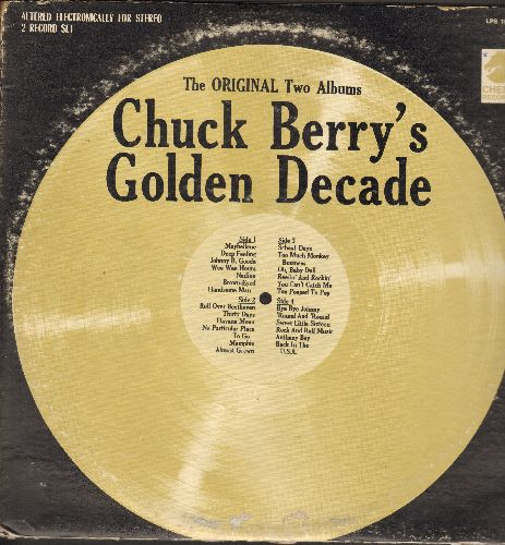 Berry, Chuck - Chuck Berry's Golden Hits: Maybelline, Johnny B. Goode, Nadine, Memphis, Roll Over Beethoven (2 vinyl LP record, 1970s pressing) - VG7/VG7 - LP Records