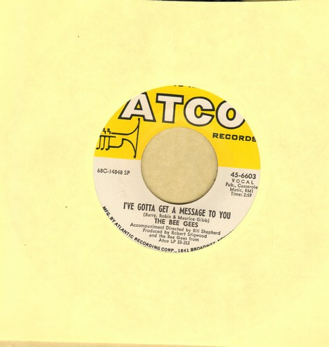 Bee Gees - I've Gotta Get A Message To You/Kitty Can  - EX8/ - 45 rpm Records