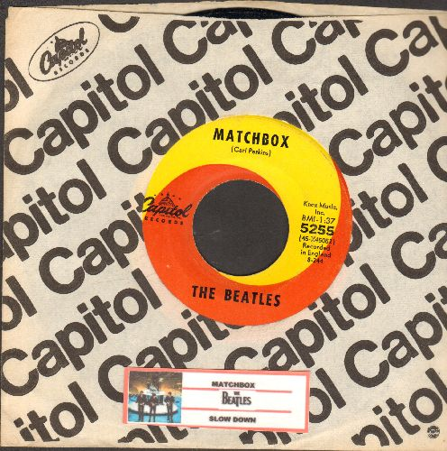 Beatles - Matchbox/Slow Down (first pressing with Capitol company sleeve and juke box label) - EX8/ - 45 rpm Records