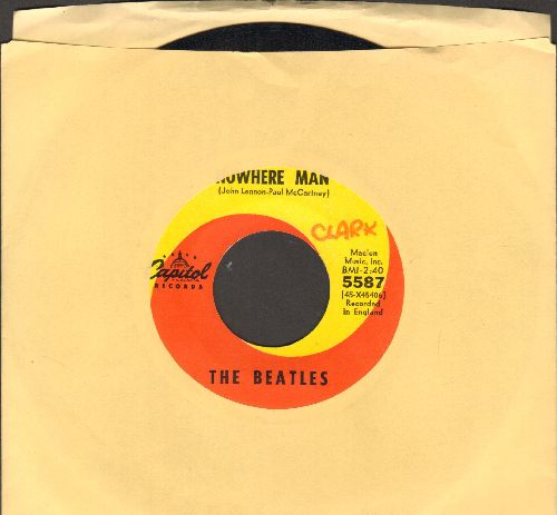 Beatles - Nowhere Man/What Goes On (minor wol) - EX8/ - 45 rpm Records