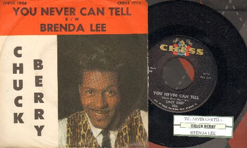 Berry, Chuck - You Never Can Tell/Brenda Lee (with juke box label and picture sleeve) - NM9/EX8 - 45 rpm Records