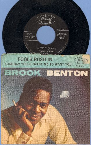 Benton, Brook - Fools Rush In/SomedayYou'll Want Me To Want You (with picture sleeve) (sol) - EX8/VG6 - 45 rpm Records