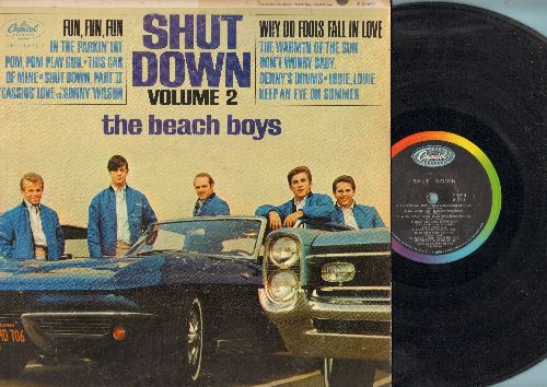 Beach Boys - Shut Down Vol. 2: Fun Fun Fun, Why Do Fools Fall In Love, Don't Worry Baby, Louie Louie (vinyl MONO LP record - VG7/VG6 - LP Records