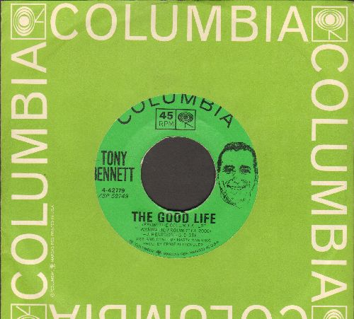 Bennett, Tony - The Good Life/Spring In Manhatten (with Columbia company sleeve) - NM9/ - 45 rpm Records
