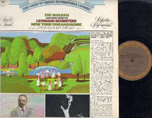Bernstein, Leonard with New York Philharmonics - The Moldau and other Favorites: Dvorak Carnival Overture, Slavonic Dance, The Bartered Bride (vinly STEREO LP record) - NM9/NM9 - LP Records