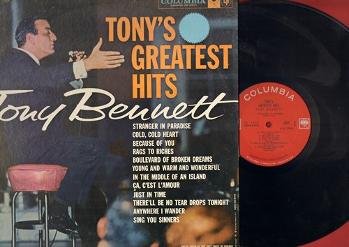 Bennett, Tony - Tony's Greatest Hits: Stranger In Paradise, Rags To Riches, Boulevard Of Broken Dreams (Vinyl MONO LP record) - NM9/NM9 - LP Records