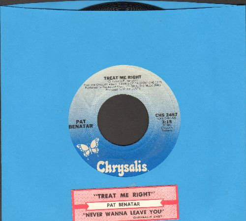 Benatar, Pat - Hit Me With Your Best Shot/Prisoner Of Love (with juke box label) - EX8/ - 45 rpm Records