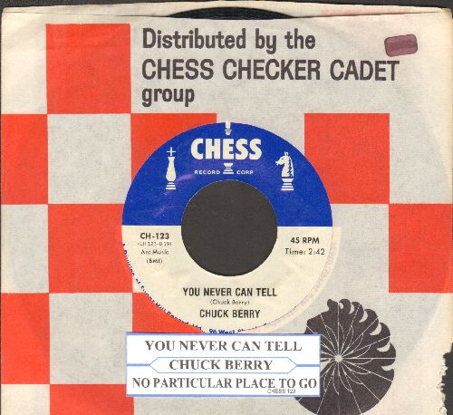 Berry, Chuck - You Never Can Tell/No Particular Place To Go (authentic-looking double-hit re-issue with Chess company sleeve and juke box label) - NM9/ - 45 rpm Records
