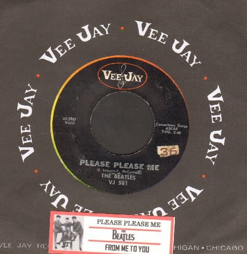 Beatles - Please Please Me/From Me To You (rainbow circle pressing with juke box label and VeeJay company sleeve) - VG7/ - 45 rpm Records
