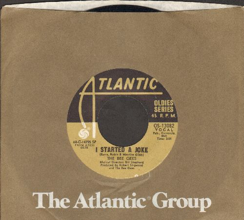 Bee Gees - I Started A Joke/Holiday (double-hit re-issue with Atlantic company sleeve) - EX8/ - 45 rpm Records