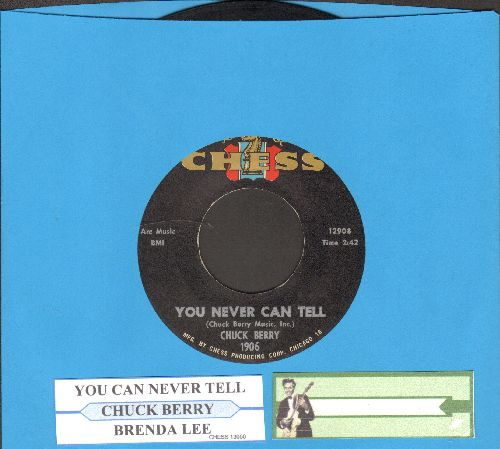 Berry, Chuck - You Never Can Tell/Brenda Lee (with juke box label) - VG7/ - 45 rpm Records