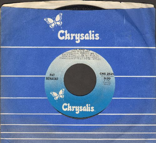 Benatar, Pat - Fire And Ice/Hard To Believe (with Chrysalis company sleeve) - NM9/ - 45 rpm Records