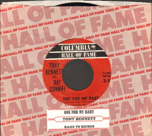 Bennett, Tony - One For My Baby (And One More For The Road)/Rags To Riches (red label re-issue of vintage recordings with juke box label and Columbia company sleeve) - NM9/ - 45 rpm Records