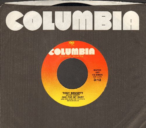 Bennett, Tony - One For My Baby (And One More For The Road)/Rags To Riches (re-issue of vintage recordings with Columbia company sleeve) - NM9/ - 45 rpm Records
