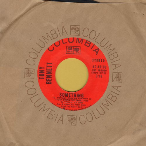 Bennett, Tony - Something/Eleanor Rigby (VERY Nice Lounge-Version of Beatles Hits!) (with Columbia company sleeve) - EX8/ - 45 rpm Records