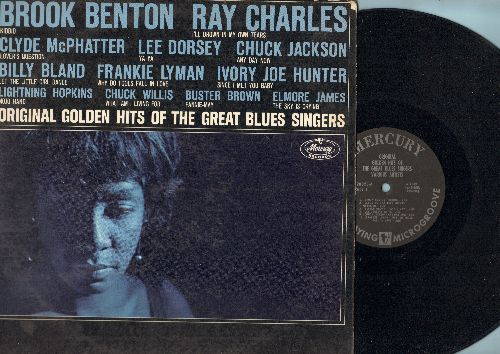Benton, Brook, Ray Charles, Frankie Lymon, others - Original Golden Hits Of The Great Blues Singers: Any Day Now, Why Do Fools Fall In Love, Since I Met You Baby, Let The Little Girl Dance (Vinyl MONO LP record) - EX8/EX8 - LP Records