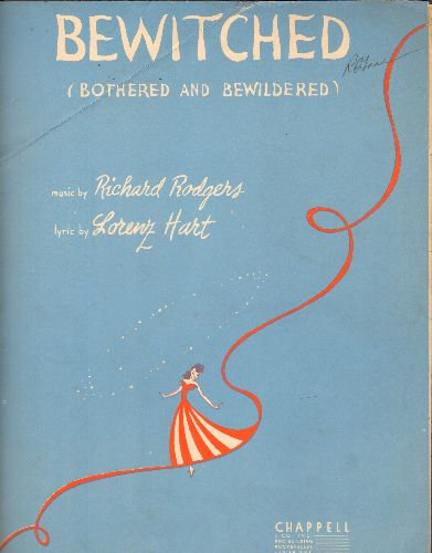Rodgers & Hart - Bewitched (Bothered And Bewildered) - Vintage SHEET MUSIC for the much recorded Rodgers & Hart Standard. - EX8/ - Sheet Music