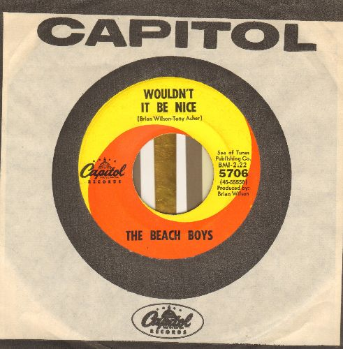 Beach Boys - Wouldn't It Be Nice/God Only KNows (with Capitol company sleeve) - EX8/ - 45 rpm Records