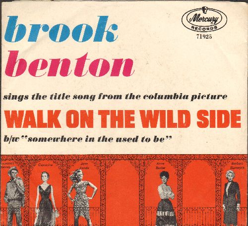 Benton, Brook - Walk On The Wild Side/Somewhere In The Used To Be (with picture sleeve) - NM9/EX8 - 45 rpm Records