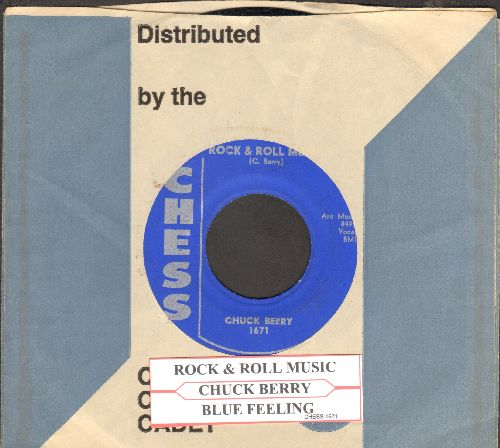 Berry, Chuck - Rock & Roll Music/Blue Feeling (with juke box label and Chess company sleeve) - EX8/ - 45 rpm Records