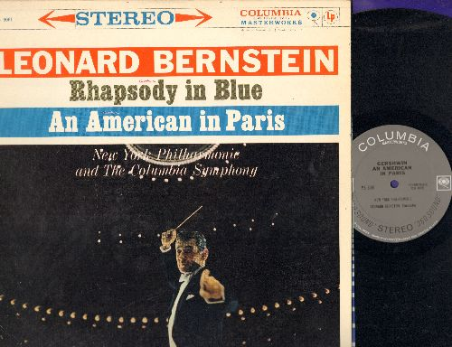 Bernstein, Leonard with New York Philharmonic - Rhapsody In Blue/An American In Paris (vinyl STEREO LP record) - NM9/EX8 - LP Records