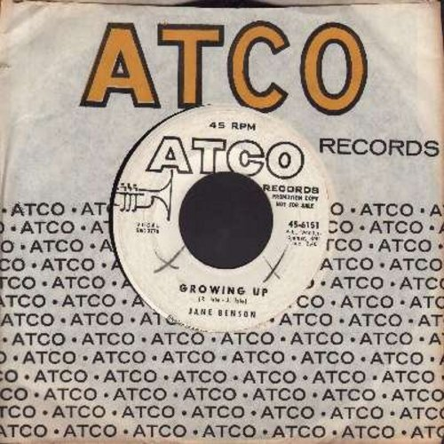 Benson, Jane - Growing Up/Surrendering (DJ advance copy with Atco company sleeve) - VG7/ - 45 rpm Records