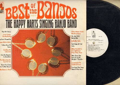 Happy Harts Singing Banjo Band - Best Of The Banjos: Hey! Mr. Banjo, I'm A Yankee Doodle Dandy, Hello Ma' Baby, Give My Regards To Broadway (vinyl MONO LP record, DJ advance pressing) - NM9/EX8 - LP Records