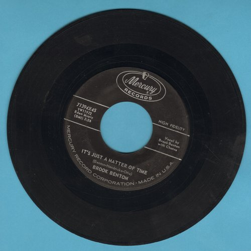 Benton, Brook - It's Just A Matter Of Time/Hurtin' Inside  - EX8/ - 45 rpm Records