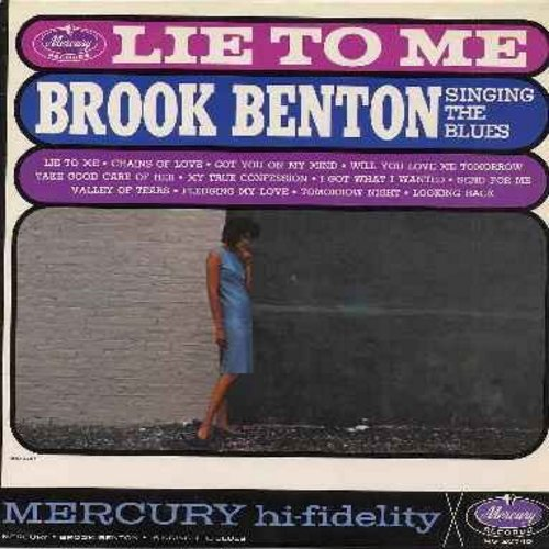 Benton, Brook - Singing The Blues: Lie To Me, Will You Love Me Tomorrow, Chains Of Love, Pledging My Love, Valley Of Tears, Tomorrow Night (Vinyl MONO LP record) - EX8/NM9 - LP Records