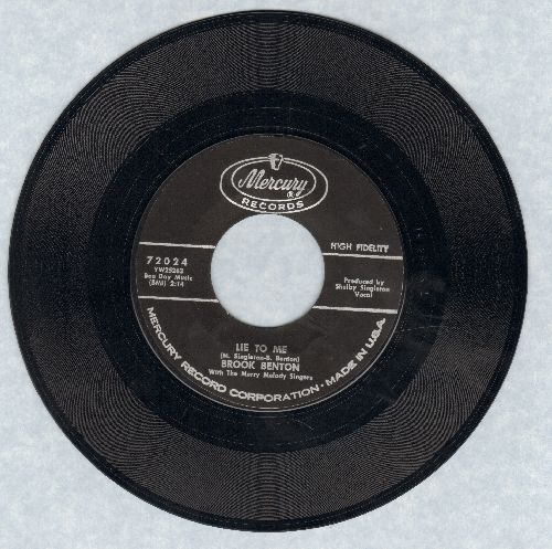 Benton, Brook - Lie To Me/With The Touch Of Your Hand (bb) - EX8/ - 45 rpm Records