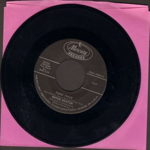 Benton, Brook - For My Baby/Think Twice (with picture sleeve) - NM9/EX8 - 45 rpm Records