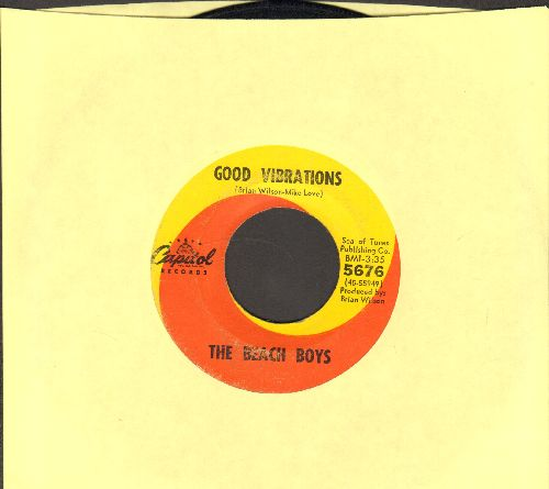 Beach Boys - Good Vibrations/Let's Go Away For Awhile - VG7/ - 45 rpm Records