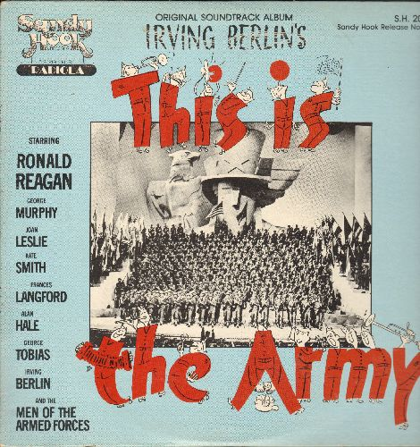This Is The Army - This Is The Army - Original Motion Picture Soundtrack of the Irving Berlin Musical starring Ronald Reagan, Kate Smith, Alan Hale and Franes Langford. Re-issue of vintage recordings. (vinyl LP record) - NM9/EX8 - LP Records
