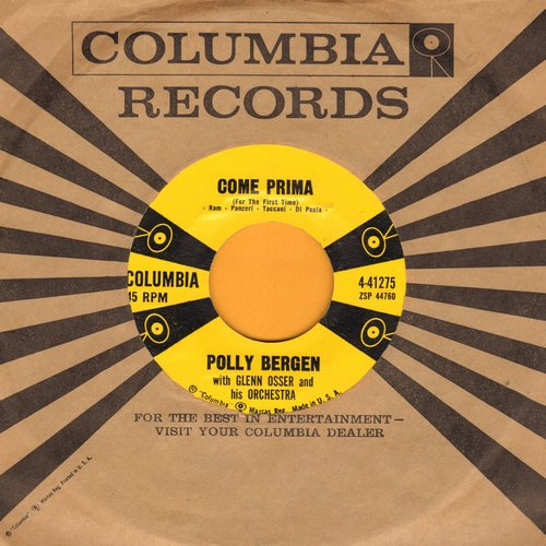 Bergen, Come - Come Prima/Au Revoir Again (with vintage Columbia company sleeve) - EX8/ - 45 rpm Records
