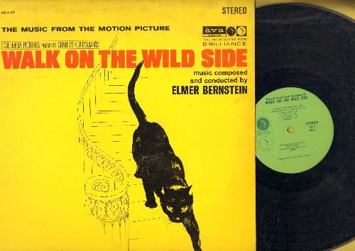 Bernstein, Elmer - Walk On The Wild Side - Original Motion Picture Sound Track (Vinyl STEREO LP record) - EX8/VG7 - LP Records