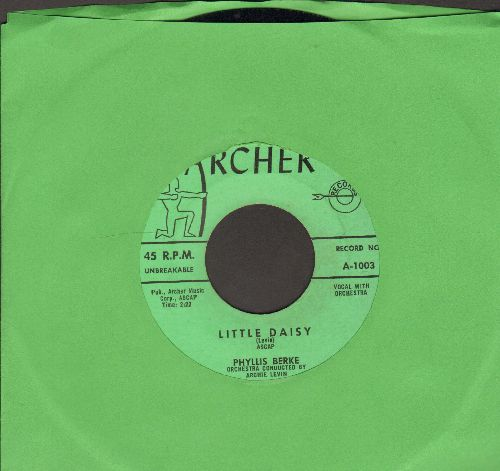 Berke, Phyllis - Little Daisy/Baby Sitter (1959 first pressing with juke box label) - NM9/ - 45 rpm Records
